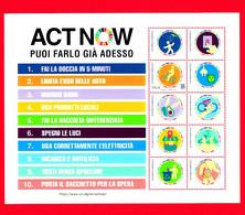 """Nuovo - MNH - ITALIA - 2021 - Sostenibilità Ambientale (foglietto) - """"ACT NOW"""" - """"PUOI FARLO GIÀ ADESSO"""" - B - Blocks & Kleinbögen"""
