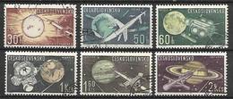 TCHECOSLOVAQUIE    -   1963.   Y&T N° 1268 à 1273 Oblitérés .  Cosmos  /  Espace . Série Complète. - Gebraucht
