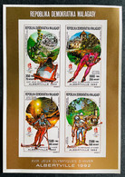 Mini Sheet Stamps Gold Overprint O.G Albertville 92/ Madagascar 90 IMPERF. - Inverno1992: Albertville