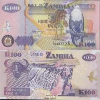Sambia Pick-Nr: 38b Bankfrisch 1992 100 Kwacha - Zambia