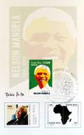 COSTA RICA TRIBUTE To NELSON MANDELA, MAP Of SOUTH AFRICA, MAXIMUM CARD 2015 - Costa Rica