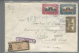 58194) Austria Registered Wien Postmark Cancel 1921 To USA - Brieven En Documenten