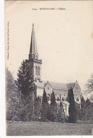 MORVILLARS :  RARE CLICHE DE 1919.L EGLISE. PETIT PLI HAUT GAUCHE. - Sin Clasificación