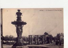 CPA - 51 - 51 -  REIMS - LA FONTAINE ET LA PORTE DE MARS - - Reims