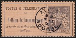 France Téléphone N°17, Oblitéré ALGER BOURSE 1906 - TB - COTE +50 € - Telegraphie Und Telefon