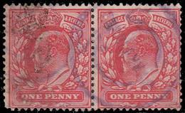 Grande Bretagne 1902. ~ YT 107 (Paire)- Edouard VII - Usados