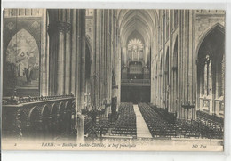 75 Paris Basilique De Sainte Clotilde La Nef Principale 1908 Les Orgues - Iglesias