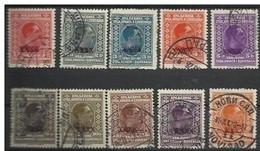 YU 1928-212-21 DEFINITVE, YUGOSLAVIA, 10v, Used - Used Stamps