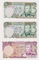 IRAN, Lot Of 3 Banknotes - Iran
