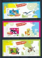 France 2009 - 271-272-273 Timbres Adhésifs Looney Tunes Avec Vignette Provenant Des Feuillets - Neuf - Adhésifs (autocollants)