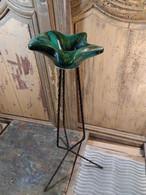Cendrier Sur Pied Etoile Céramique Vallauris Vintage - Ashtrays