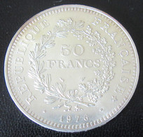 France - 50 Francs Hercule 1976 En Argent - SPL - M. 50 Francs