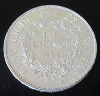 France - 10 Francs Hercule 1965 En Argent - SUP - K. 10 Francs