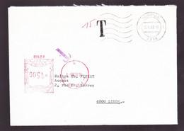 TAXE   T 15.00 F.SUR  CACHET ROUGE  P2102  BELGIQUE-BELGIE  16.IV.80.    DEPART LIEGE 15.4.80- - Covers