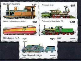 R2-18 Niger N° 510 à 514 ** Trains  A Saisir  !!! - Níger (1960-...)
