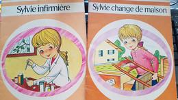 LOT DE 2 LIVRES   > >  SYLVIE CHANGE DE MAISON  ////  SYLVIE INFIRMIÈRE - Bücherpakete