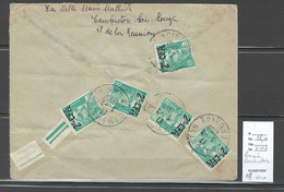 Reunion -  Cambuston -1950 - Affranchissement Verso - Covers & Documents