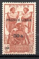 COTE FRANCAISE DES SOMALIS /  N° 233 Neuf  * * FRANCE LIBRE - Unused Stamps