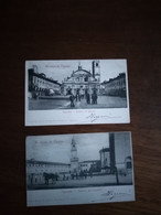Lot De 2 Cartes D'italie  Vigevano - Otros