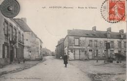 53 - Carte Postale Ancienne De  Averton  Route De Villaines - Autres Communes