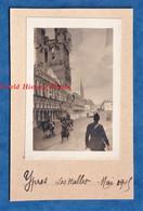 Photo Ancienne D'un Poilu - YPRES / Belgique - Les Halles - Mai 1915 - WW1 Guerre Front Soldat à Cheval - Guerra, Militares