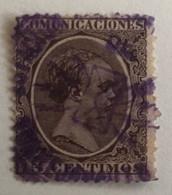 Espagne 1889 Oblitération Couleur Violet - Gebraucht