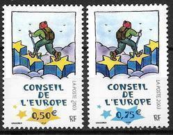 France 2003 Service N° 126/127 Neufs Conseil De L'Europe à La Faciale - Neufs
