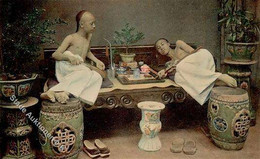China Opiumraucher Ansichtskarte I-II - Unclassified