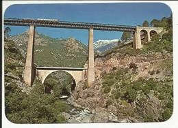 PANORAMA DE LA CORSE , Le Pont Du VECCHIO , Oeuvre De L'ingénieur Eiffel , + TRAIN - Other Municipalities