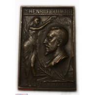 Médaille Plaque Dr Henri FEULARD 1897 Par Maurice BOUVAL - Altri