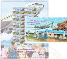 Pré Commande Feuillet Aeéroport De Tahiti - Blocks & Kleinbögen