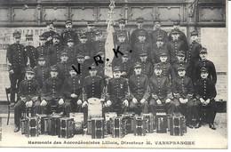 59 - LILLE - Harmonie Des Accordéonistes Lillois , Dir. M . Vanspranghe , ( Voir Au Dos La Signature De Vanspranghe) SUP - Lille
