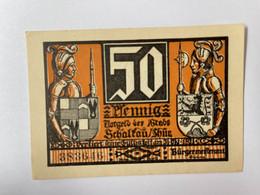 Allemagne Notgeld Schaltau 50 Pfennig - Verzamelingen