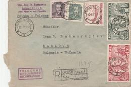 Poland 1951 R-letter To Karlovo-Bulgaria - Cartas