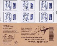 "CARNET 1176A-C 1 Marianne De Ciappa-Kawena ""DATAMATRIX"". 333% D'augmentation En Deux Ans......A SAISIR - Standaardgebruik"