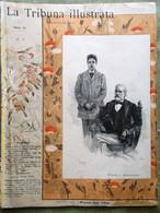 La Tribuna Illustrata Mensile Gennaio 1893 Vannutelli Verdi Mascagni Lionne 1892 - Avant 1900