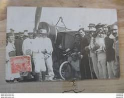 Carte Photo Aterissage De ROLAND GARROS Le 23 Septembre 1913 A BIZERTE ................ 810 - Aviadores