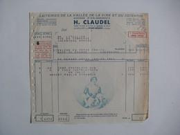 Facture De LA LAITERIE  H. CLAUDEL   PONT-HEBERT   (Manche) - Cheese