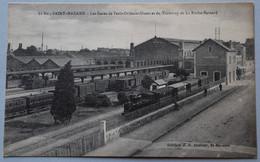 CPA 44, TRAIN SAINT-NAZAIRE, TRAMWAY LA ROCHE-BERNARD, CHEMIN DE FER, SNCF, GARE D'ORLÉANS - Saint Nazaire