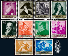1958 Spain  Sc 867/876 Goya Painting **MNH Very Nice, Mint Never Hinged  (Scott) - 1951-60 Unused Stamps