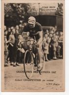 Carte Colle Velox Grand Prix Des Nations 1947 ROBERT CHARPENTIER EN COURSE - Cycling