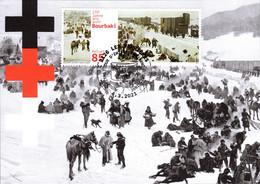 Maximumkarte 2021 Bourbaki - 150 Jahre Solidarität Kennt Keine Grenzen - Maximumkarten (MC)