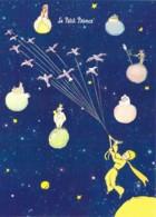 CPM Illustrée St Exupéry Le Petit Prince Les Planètes Et Le Cerf-volant Aux Oiseaux - Contes, Fables & Légendes