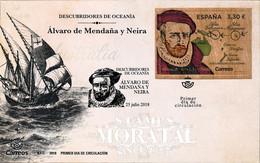 2018 Spain  Sc 0 Alvaro De Mendana  FDC Nice  (Scott) - FDC
