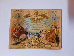 Calendrier Chromo  1868 - Formato Piccolo : ...-1900