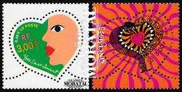 2000 France Sc 2750/2751 Heart Of Yves Saint Laurent  **MNH Very Nice, Mint Never Hinged  (Scott) - Unused Stamps