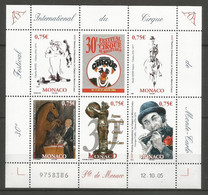Feuillet   Monaco   Neuf ** N 2523/2527  Vendu Au Prix De La Poste - Nuovi