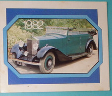 Petit Calendrier Poche 1982 Voiture Rolls Royce - Station Shell Nantes - Klein Formaat: 1981-90