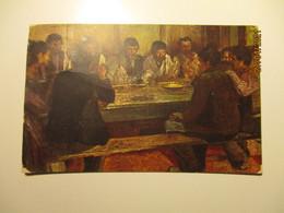 TUCKS OILETTE , W. FIRLE , VILLAGE DINNER   , OLD POSTCARD   , O - Pittura & Quadri