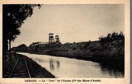 """DENAIN  -  Le """"Terri"""" De L' Enclos ( Cie Des Mines D'Anzin )  -  Canal - Denain"""